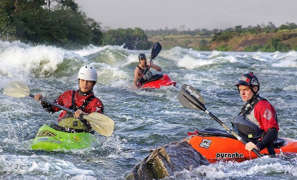 Kayaking on the Nile