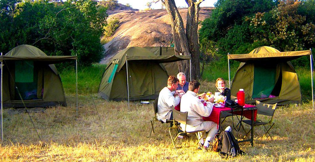 Camping in Uganda