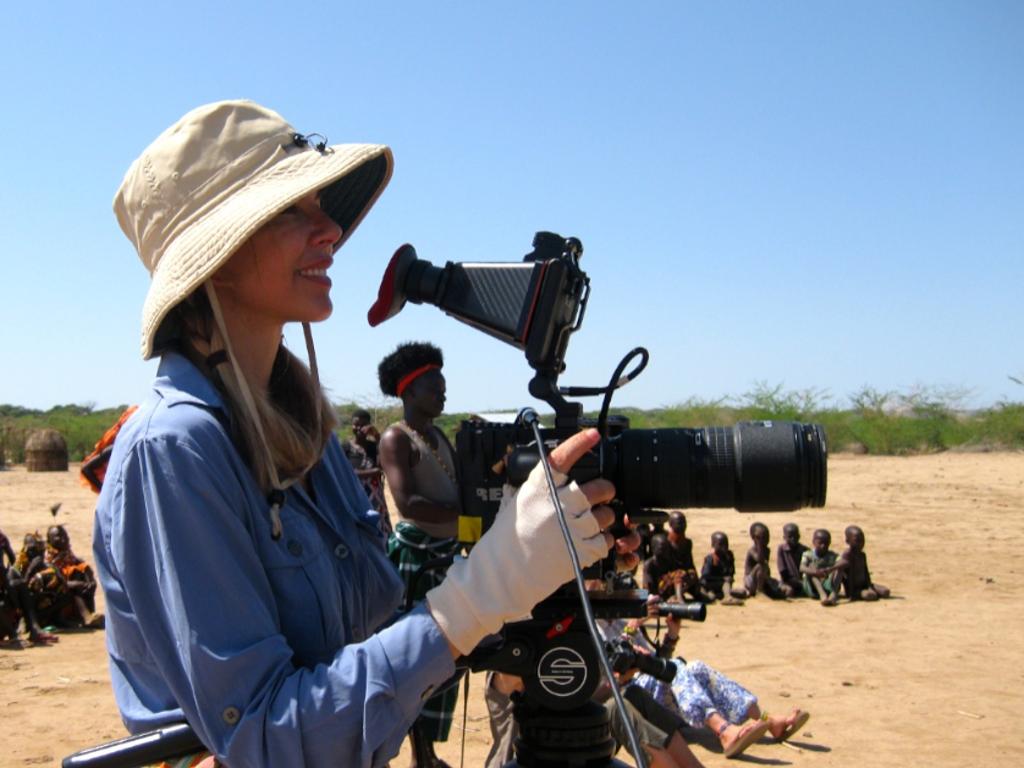 Filming in Uganfda